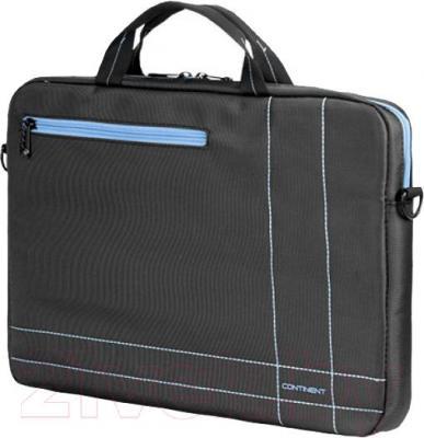 Сумка для ноутбука Continent CC-201GB (серый/голубой) - общий вид