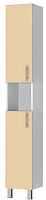 Шкаф-пенал для ванной Triton Эко 30 со сменными элементами (бежевый) -