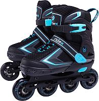 Роликовые коньки Ridex Tron Blue M (р-р 35-38) -