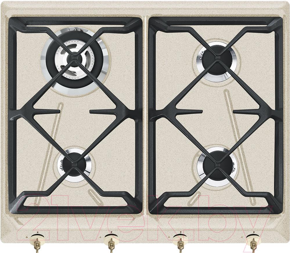 Купить Газовая варочная панель Smeg, SRV864AVOGH2, Италия