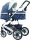Детская универсальная коляска Lorelli Lora 3 в 1 Dark Blue Bird (10021281985) -