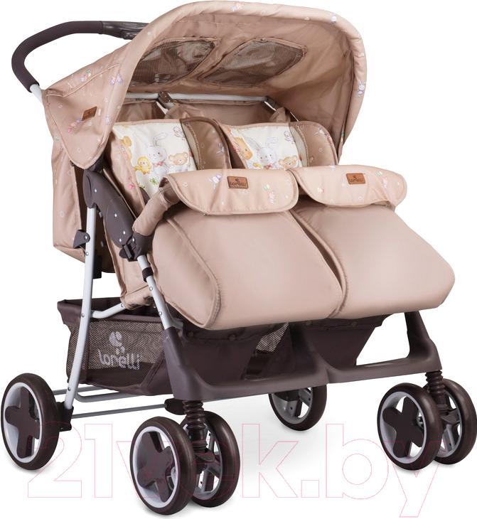 Купить Детская прогулочная коляска Lorelli, Twin Beige Bear Party (10020071954), Китай