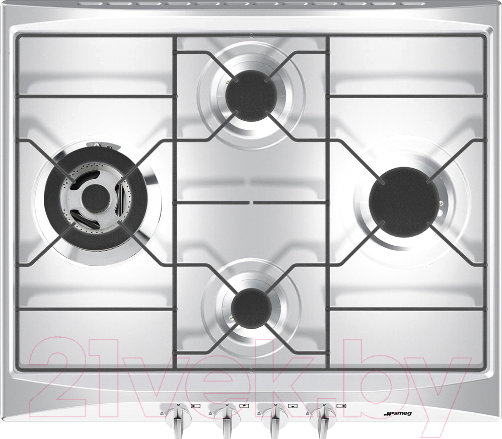 Купить Газовая варочная панель Smeg, SR264X2, Италия