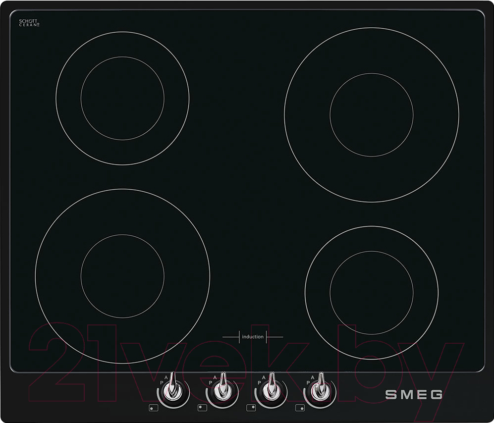 Индукционная варочная панель Smeg, SI964NM, Италия  - купить со скидкой