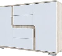 Комод SV-мебель Гостиная Нота 25 (дуб сонома/белый глянец) -