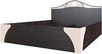 Каркас кровати SV-мебель №2 Спальня Лагуна 5 160x200 (дуб венге/дуб млечный) -