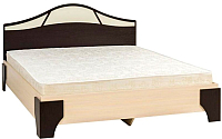 Двуспальная кровать SV-мебель Спальня Лагуна 5 160x200 (дуб венге/дуб млечный) -