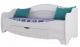 Кровать-тахта SV-мебель Акварель 1 80x200 с ящиком (ясень анкор светлый/белый матовый) -