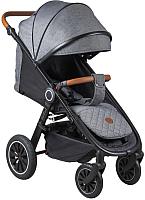 Детская прогулочная коляска Coletto Joggy 2019 (графитовый, черная рама) -