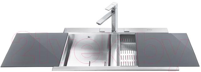Купить Мойка кухонная Smeg, LQVS8622, Италия, нержавеющая сталь