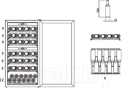 Винный шкаф Caso WineComfort Touch 66