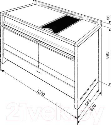 Плита комбинированная Smeg A4BL-81