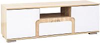 Тумба SV-мебель Гостиная Нота 25 (дуб сонома/белый глянец) -