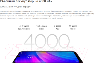 Смартфон Xiaomi Redmi 7 3GB/64GB (черный) -