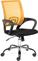 Кресло офисное Norden Spring Chrome / 804-1 chrome AB02-AC01 (хром/оранжевый/черный) -