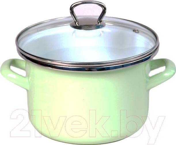 Купить Кастрюля Сантэкс, 1-2215111 (салатовый/металлик), Беларусь