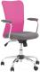 Кресло офисное Halmar Andy (серый/розовый) -