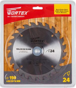 Купить Пильный диск Wortex, CSD210T24W0003, Китай