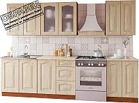Готовая кухня Артём-Мебель Оля СН-114 со стеклом МДФ 1.4 (дуб беленый) -