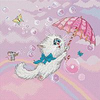 Набор для вышивания БЕЛОСНЕЖКА Белая кошечка / 147-14 -