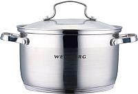 Кастрюля Wellberg WB-02174 (нержавеющая сталь) -
