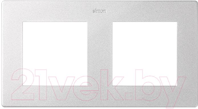 Купить Рамка для выключателя Simon, 2400620-033 (алюминий), Россия, пластик, Simon Harmonie 24 алюминий (Simon)