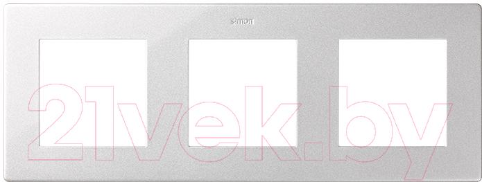 Купить Рамка для выключателя Simon, 2400630-033 (алюминий), Россия, пластик, Simon Harmonie 24 алюминий (Simon)