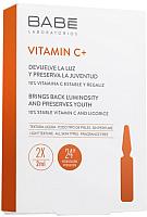 Ампулы для лица Laboratorios Babe Vitamin C+ для гладкости и омоложения кожи (2x2мл) -