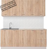 Готовая кухня Артём-Мебель Оля СН-114 ДСП 2.4м (дуб санома) -