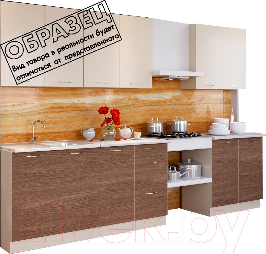 Купить Готовая кухня Артём-Мебель, Оля СН-114 ДСП 2.4м (ваниль/ясень темный), Беларусь
