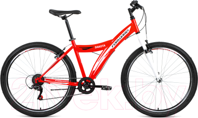 Велосипед Forward Dakota 26 1.0 2019 / RBKW9MN6P002 (красный/белый)