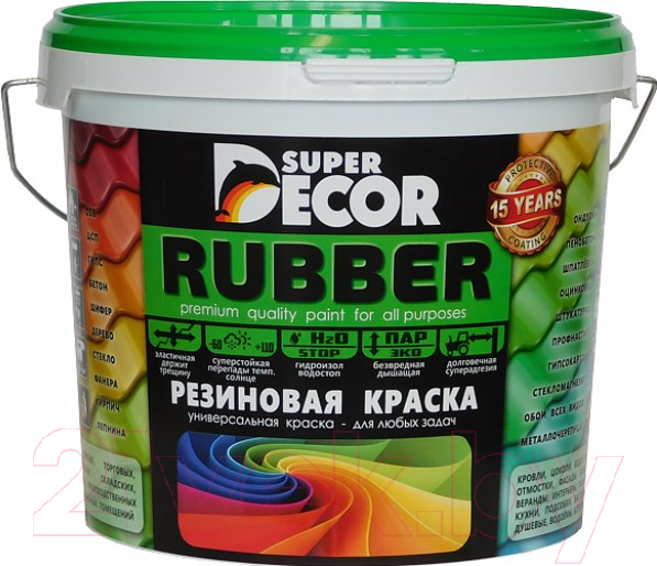 Купить Краска Super Decor, Резиновая №11 Оранжевое лето (3кг), Россия, оранжевый