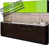Готовая кухня Артём-Мебель Лана ДСП 2.6м (лайм/черный) -