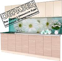 Готовая кухня Артём-Мебель Лана ДСП 1.4м (ваниль/ясень светлый) -