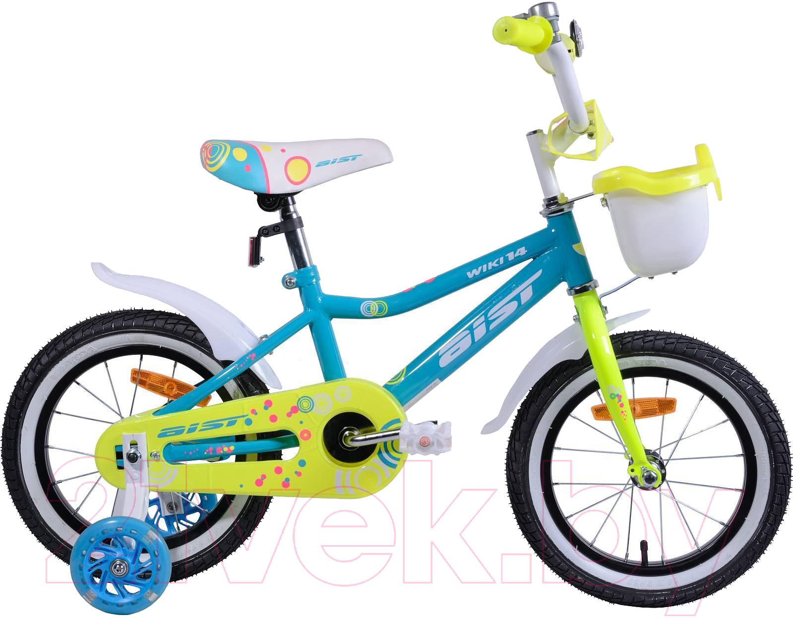 Купить Детский велосипед AIST, Wiki 2019 (14, голубой), Беларусь