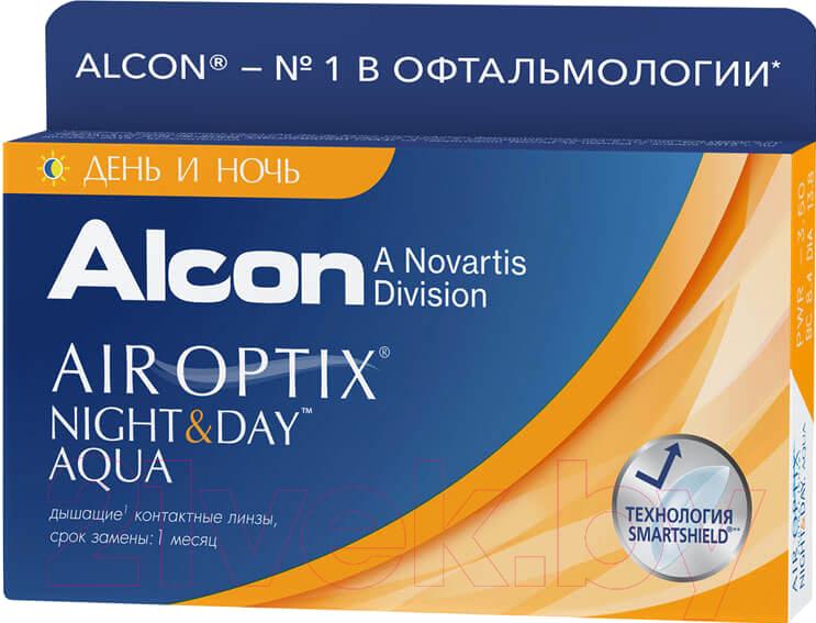 Купить Контактная линза Air Optix, Night&Day Sph+6.00 R8.6 D13.8, Индонезия