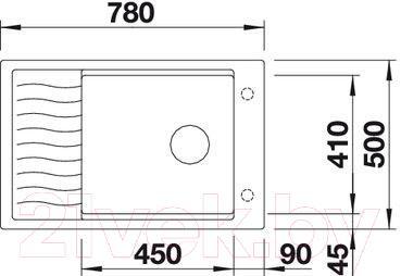 Мойка кухонная Blanco Elon XL 6 S / 518741 - габаритные размеры