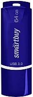 Usb flash накопитель SmartBuy Crown Blue 64GB (SB64GBCRW-Bl) -