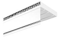 Карниз для штор АС ФОРОС УК Дива 3-рядный (2.6м, белый/хром) -