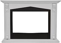 Портал для камина Смолком Praga FS33/FS33W (бьянко белый дуб/черный) -