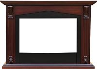 Портал для камина Смолком Praga FS33/FS33W (махагон коричневый антик/черный) -