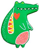 Магнит декоративный Нашы майстры Крокодильчик / 2123 (декорированный) -
