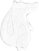 Магнит декоративный Нашы майстры Крокодильчик / 2123 (белый) -