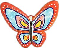 Магнит декоративный Нашы майстры Бабочка 2 / 2122 (декорированный) -