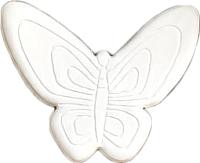 Магнит декоративный Нашы майстры Бабочка 2 / 2122 (белый) -
