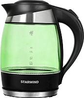 Электрочайник StarWind SKG2213 (зеленый/черный) -