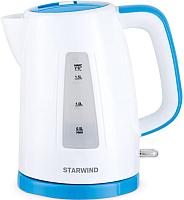 Электрочайник StarWind SKP3541 (белый/голубой) -