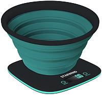 Кухонные весы StarWind SSK5572 (темно-серый/бирюзовый) -