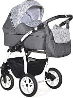 Детская универсальная коляска INDIGO Charlotte 18 2 в 1 (Ch 40, темно-серый/серый узор) -