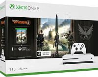 Игровая приставка Microsoft Xbox One S 1ТБ + Tom Clancys The Division 2 / 234-00882 (с подпиской на 1мес) -